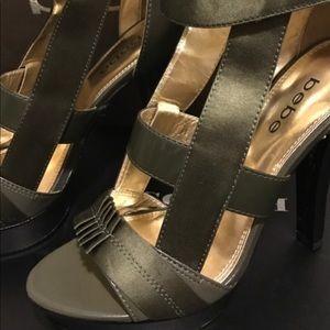 BRAND NEW - Army Green bebe heels
